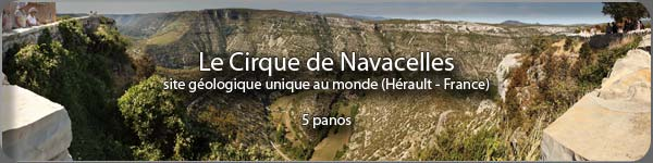 Visite virtuelle en photo 360 panoramique du cirque de Navacelles