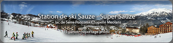 Visite virtuelle en photo 360 panoramique de la station de ski Sauze - Super Sauze